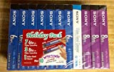 SONY VHS Holiday 10 Pack + Video Head Cleaner BLANK MEDIA Cassette Tapes