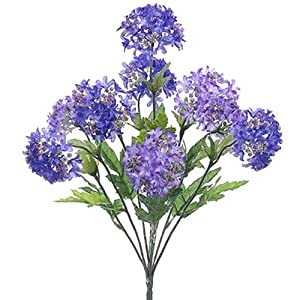 "18"" Silk Snowball Flower Bush -Purple/Lavender (Pack of 12) 45"