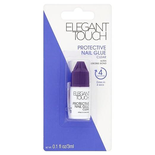 1 opinioni per Elegant Touch- Colla da unghie protettiva, 3 ml, colore: trasparente