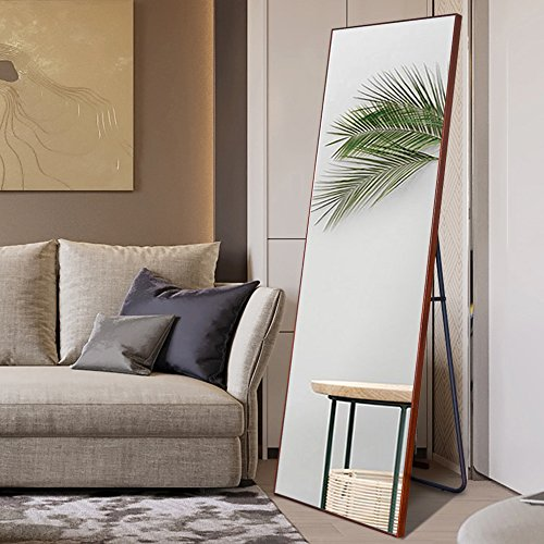 NeuType Full Length Mirror Floor Mirror with Standing Holder Bedroom ...