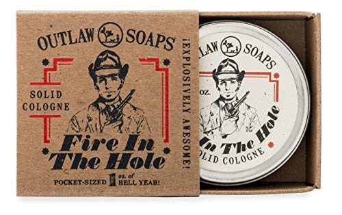 Fire in the Hole Campfire Solid Cologne - Explosively Awesome Cologne - 1 oz - Smells like Campfire, Gunpowder, Sagebrush, Whiskey, and Basically a Great Weekend Camping - Men's or Women's Cologne