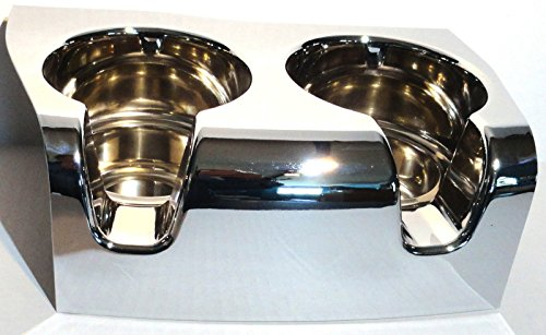 CPW (TM) cup holder 2 cup chrome console top for 2006 & up Kenworth W900 T800 T660 C500
