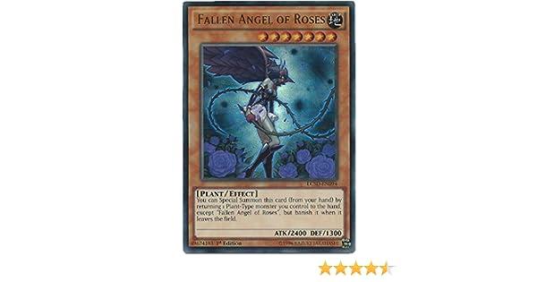 YUGIOH HOLO FALLEN ANGEL OF ROSES LC5D-EN094 1ST EDITION
