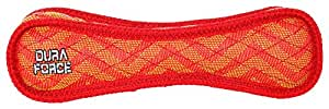 """VIP DFBZZRR DuraForce Bone Red Squeaky Dog Toy 11.25"""" X 3.5"""" X 1.75"""" Dura-Scale 9"""