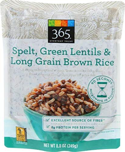 Rice: 365 Everyday Value Spelt, Green Lentils & Long Grain Brown Rice
