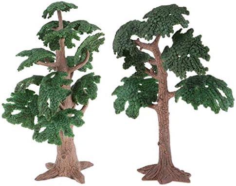 T TOOYFUL 2本 樹木 モデルツリー ツリー模型 松の木 鉄道模型 ミニチュア風景 砂テーブル装飾 レイアウト