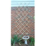 Bosmere L565 6-Feet by 4-Feet Expanding Bamboo Trellis for Vining Plants