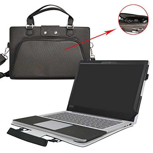 Ideapad 120S 14 Case,2 in 1 Accurately Designed Protective PU Leather Cover + Portable Carrying Bag For 14