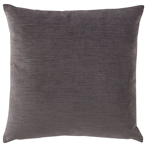 Stone & Beam Striated Velvet Linen-Look Decorative Throw Pillow, 17