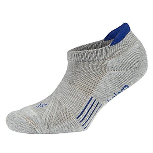 Balega Kids Hidden Cool Socks (1 Pair), Grey/Electric Blue, X-Large