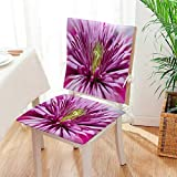 Mikihome Seat Set Cushion Chrysanthemum 2 Piece Classic Decorative Chair pad Mat:W17 x H17/Backrest:W17 x H36