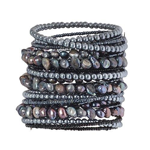 Pearl Beaded Wrap Bracelet - 4
