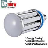 LED Corn Light, Gianor 100W E40/E39 LED Street Light Replace Higher Watt Metal Halide/CFL Lamp,6000K Day White for Parking Lot/Warehouse/Garage/Canopy/Street/Area Lighting Fixture(Milky Cover)