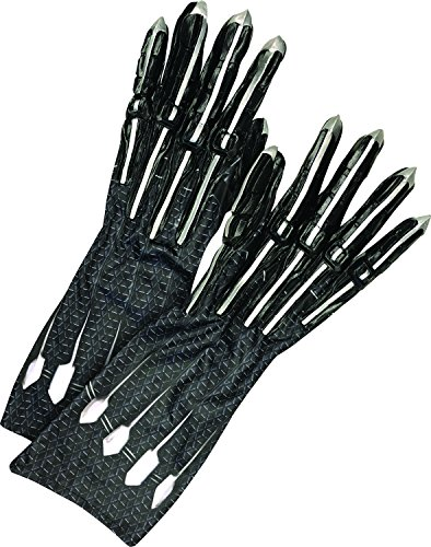 Rubie's Men's Deluxe Black Panther Gloves/Claws, Adult, Black/Silver, One Size for $<!--$18.90-->