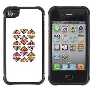Suave TPU GEL Carcasa Funda Silicona Blando Estuche Caso de protección (para) Apple Iphone 4 / 4S / CECELL Phone case / / Art Hand Drawn Bling Pattern /
