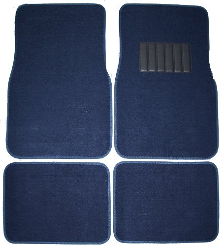 Front & Rear Carpet Car Truck SUV Floor Mats - Blue (Custom Car Floor Mats Blue compare prices)