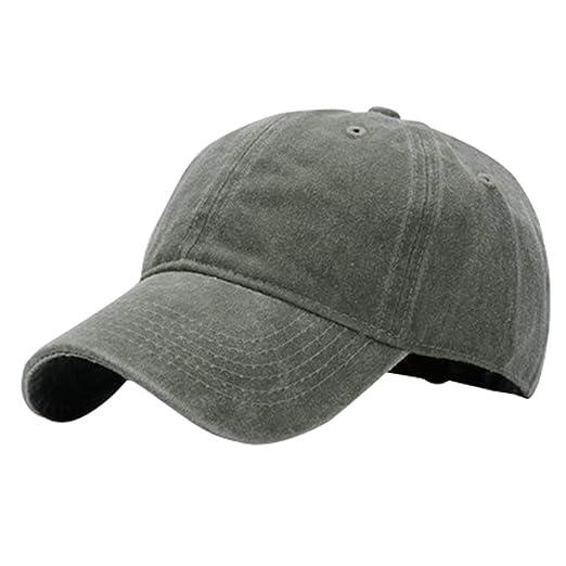 f954d21b865e Unisex Vintage Washed Distressed Baseball Visors Cap Twill Adjustable  Couple Hat Beanie Denim Women Men Outdoor