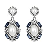 Yeefant 1 Pair Pendant Shaped Diamond Encrusted Love Heart Jewelry Earrings for Woman