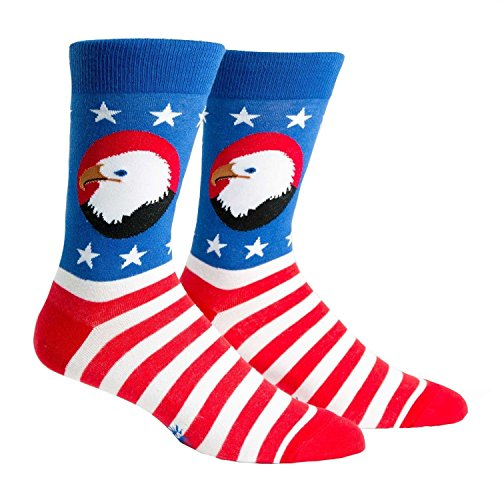 Bookie Costume (Sock It To Me, Mens Crew Red White and Blue w/ Eagle)