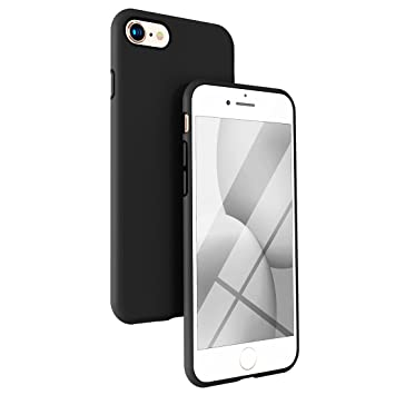 coque iphone 7 apple silicone noir