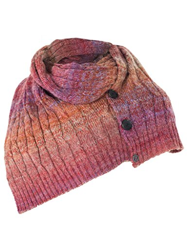 Noble Outfitter Scarf Women Ombre Knit Cable Horn Buttons...