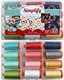 Aurifil Thread Set SIMPLIFY By Camille Roskelley 50wt Cotton 12 Large (1422 yard) Spools