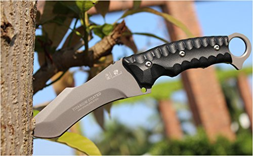 BERETS Special forces tactical knife outdoor hunting camping Army Knives military tactical knife Fixed Blade by HX OUTDOORS (Image #7)