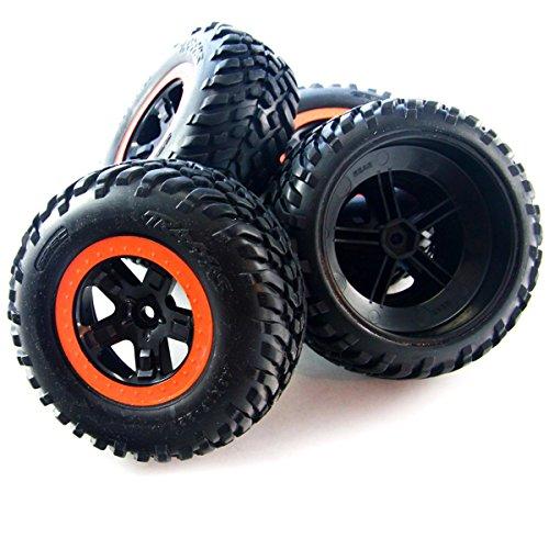 Traxxas 1/10 Slash 2WD Robby Gordon * FRONT & REAR DAKAR EDITION TIRES & (Robby Gordon Wheels)