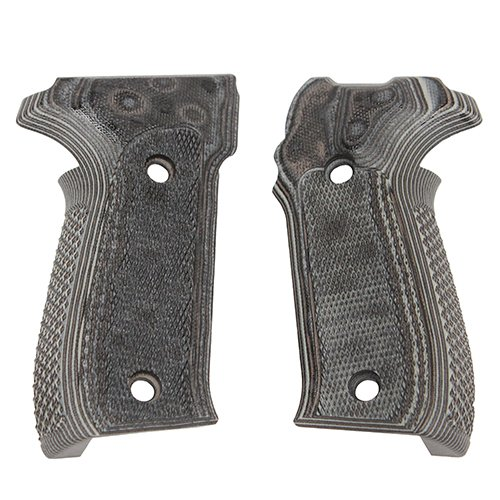 Hogue Sig P226 Grips (Checkered G-10 G-Mascus), Black/Grey