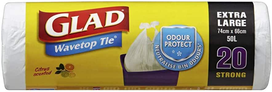 Glad Wavetop Tidy Bags, Extra Large,  20 Count