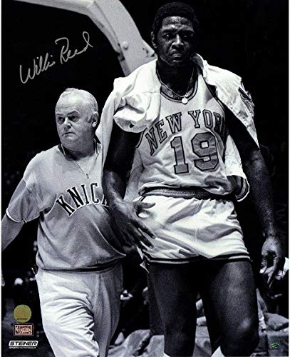 Willis Reed New York Knicks Signed Vintage Black & White 16X20 Photograph - Steiner Sports Certified