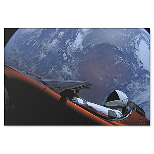 Shop Shop USA Spacex Starman in Orbit Around The Earth Canvas Wrap