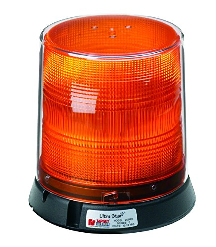 Federal Signal 252600-02 Class 1 UltraStar US6 Strobe Beacon, Permanent/Pipe Mount with Tall Dome, Amber