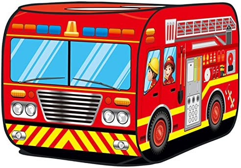 separation shoes d75bc 3695e Kiddie Play Fire Truck Pop Up Kids Play Tent for Boys and Girls Indoor  Outdoor Toy