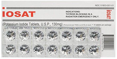 IOSAT 130 mg Potassium Iodide Tablets, 5 Count