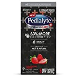 Pedialyte AdvancedCare Plus Electrolyte Powder, with 33% More Electrolytes and PreActiv Prebiotics, Strawberry Freeze, Electrolyte Drink Powder Packets, 0.6 oz (18 Count)