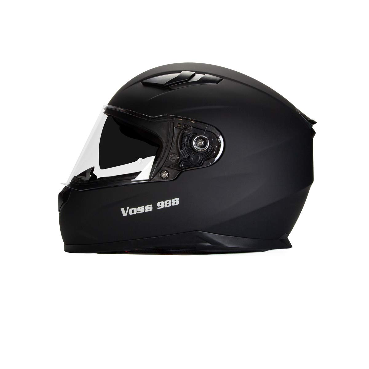Voss 988 Moto-1 Street Full Face Helmet with Drop Down Internal Sun Lens
