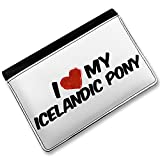 RFID Passport Holder I Love my Icelandic pony Icelandic Horse, Cover Case / Wal
