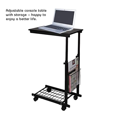Side Tables Cart Height Adjustable Desk With Detachable Wheels Sofa Chair Bed Side Coffee Table For Computer 1