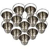 Stainless Steel Buckets/Pails, 13cm Tall, 4-Quarts