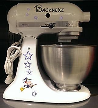 Robot de cocina pegatinas Back Bruja para KitchenAid Artisan Color Blanco: Amazon.es: Hogar