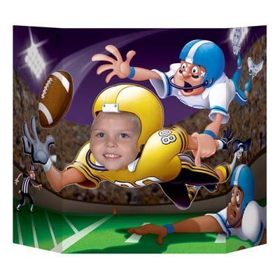 Football Photo Prop Party Accessory (1 count) (1/Pkg)]()