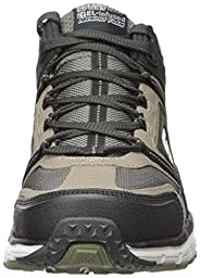 Skechers Sport Men\'s Geo Trek Oxford, Taupe/Black, 11 M US
