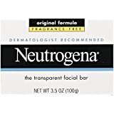 Neutrogena Fragrance Free Transparent Facial Bar, Original Formula, 3.5 Ounce