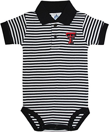 Texas Tech Red Raiders Newborn Infant Baby Striped Polo Bodysuit