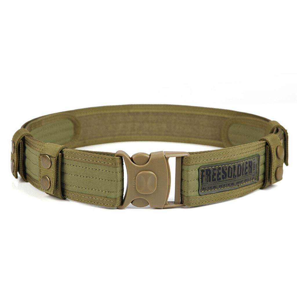 Mei Xu Belt Outdoor Military Enthusiasts Special Tactical Belts to Expand The Outer Belt Camping Hanging Nylon Training Security Waist Seal Mud Color Mei Xu Shop