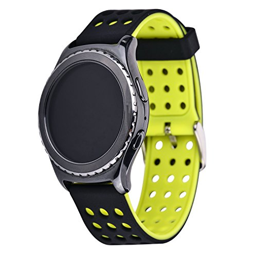 11 Possible Replacements On The View: Moretek Silicone 20mm Watch Strap Replacement Band For