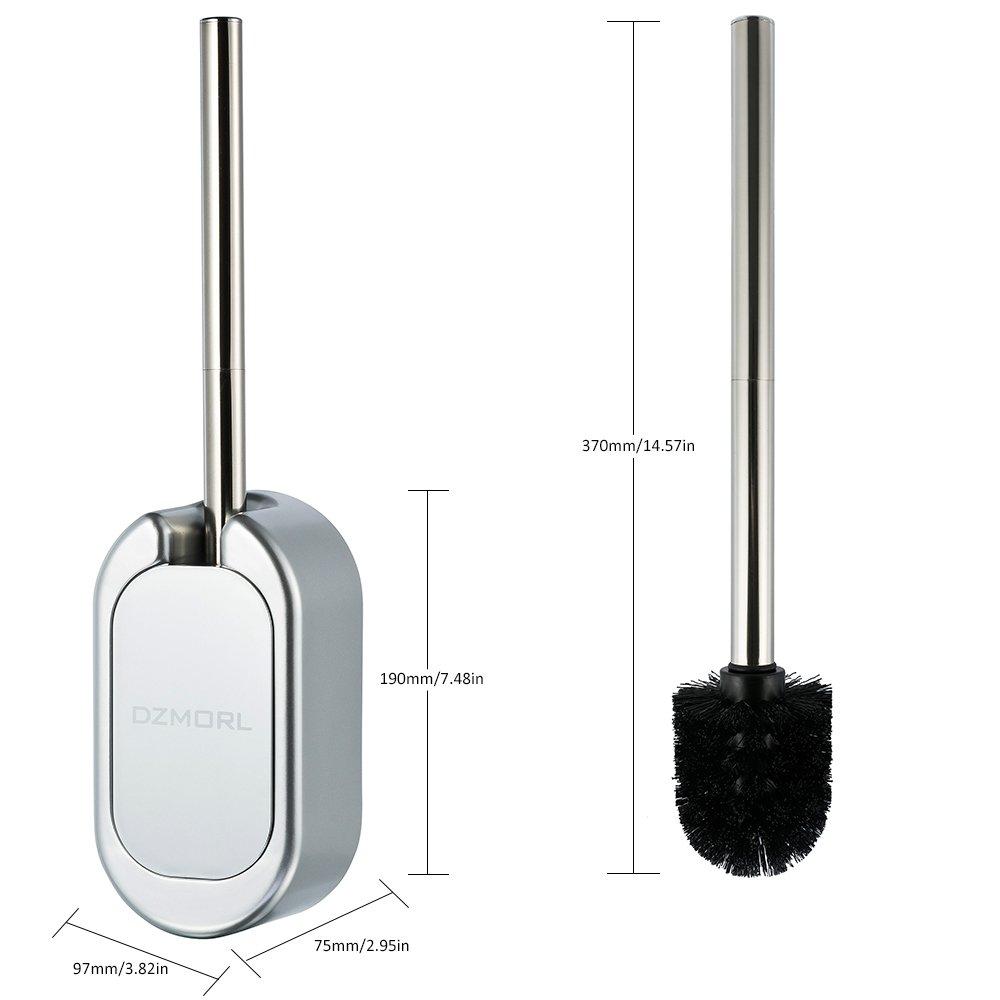 Escobilla para ba/ño con cepillo SALOVES soporte Escobilla Escobillero WC Ba/ño inodoro acero inoxidable cepillo de limpieza