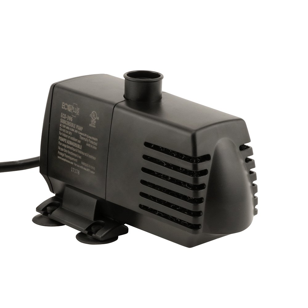 EcoPlus 396 GPH (1500 LPH, 20W) Submersible Water Pump w/ 6 ft Power Cord | Aquarium, Fish Tank, Fountain, Pond, Hydroponics by EcoPlus (Image #2)