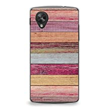 Case for Nexus 5, CasesByLorraine Colorful Wood Print Case Plastic Hard Cover for LG Google Nexus 5 (X04)